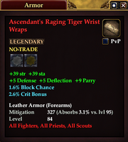 Ascendant's Raging Tiger Wrist Wraps