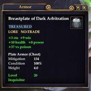 Breastplate of Dark Arbitration