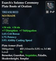 Exarch's Solemn Ceremony Plate Boots of Oration