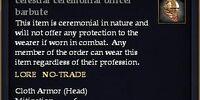Celestial ceremonial officer barbute