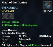 Maul of the Irontoe
