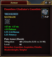 Dauntless Gladiator's Gauntlets