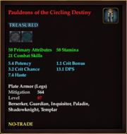Pauldrons of the Circling Destiny