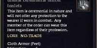 Dismal ceremonial officer tonlets