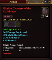 Elysian Chausses of the Darkblade