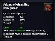 Fulginate brigandine handguards