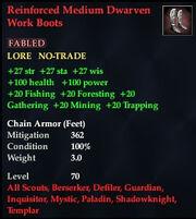 Reinforced Medium Dwarven Work Boots
