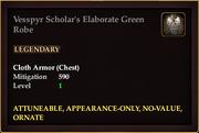 Vesspyr Scholar's Elaborate Green Robe