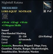 Nightfall Katana