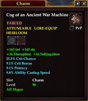 Cog of an Ancient War Machine