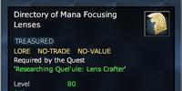Directory of Mana Focusing Lenses