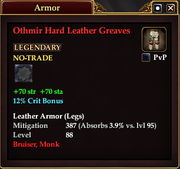 Othmir Hard Leather Greaves