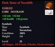 Dark Tome of Tseralith
