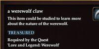 A werewolf claw