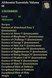 Alchemist Essentials Volume 64