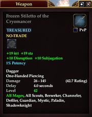 Frozen Stiletto of the Cryomancer