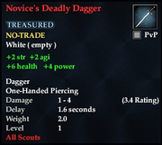 Novice's Deadly Dagger