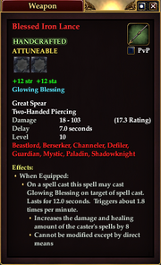 Blessed Iron Lance