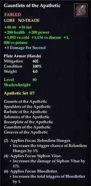 Gauntlets of the Apathetic