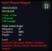 Spirit-Warped Fatigues