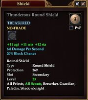Thunderous Round Shield