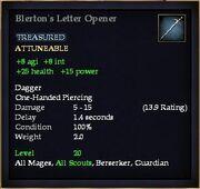 Blerton's Letter Opener