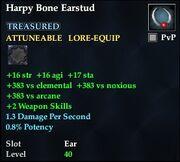 Harpy Bone Earstud