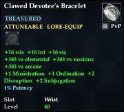 Clawed Devotee's Bracelet
