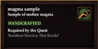 Magma sample (Sootfoot Item)