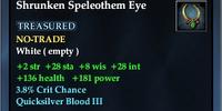 Shrunken Speleothem Eye