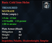 Basic Cold Iron Helm