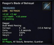 Feagon's Blade of Betrayal