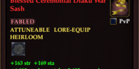 Blessed Ceremonial Diaku War Sash