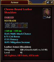 Chrono-Bound Leather Shoulders
