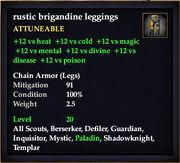 Rustic brigandine leggings