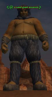A sand giant assassin