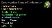 Gorowynian Rune of Indemnity