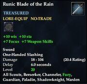 Runic Blade of the Rain