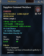 Sapphire Gemmed Necklace