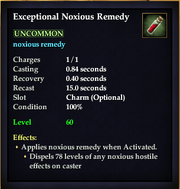 Exceptional Noxious Remedy