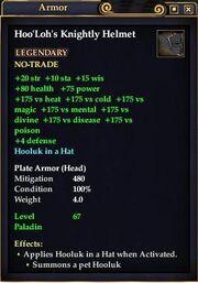 Hoo'Loh's Knightly Helmet
