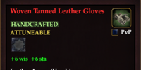 Woven Tanned Leather Gloves