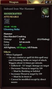 Imbued Iron War Hammer