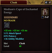 Medium's Cape of Enchanted Energy