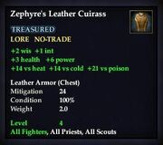 Zephyre's Leather Cuirass
