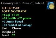 Gorowynian Rune of Intent