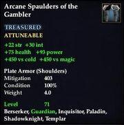 Arcane Spaulders of the Gambler