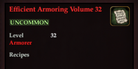 Efficient Armoring Volume 32