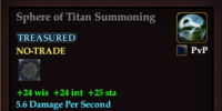 Sphere of Titan Summoning