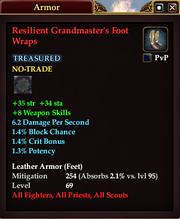 Resilient Grandmaster's Foot Wraps
